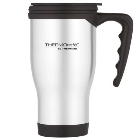 Stainless Steel Thermos Thermocafe Car Travel Cup Mug with Handle